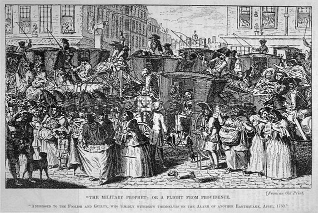 Fleeing the 1750 Earthquake